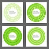 Vektor-Designschablonen-Quadratkarten auf Lager mit Kreisen Stockbild