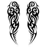 Vektor-Designskizze der Tätowierung Stammes- vektor abbildung