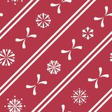 Vektor-diagonale Folklore-Blumenstreifen-nahtloser Muster-Hintergrund stock abbildung