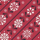 Vektor-diagonale Folklore-Blumenstreifen-nahtloser Muster-Hintergrund lizenzfreie abbildung