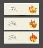 Vektor Diwali-Fahnen-Design Lizenzfreies Stockbild