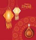 Vektor Diwali-Hintergrund-Design Lizenzfreie Stockbilder