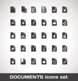 Vektor-Dokumenten-Ikonen-Satz Stockbilder