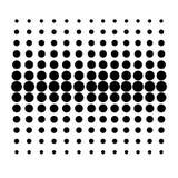 Vektor Dot Pattern auf weißem Hintergrund vektor abbildung