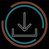 Vektor-Downloadsymbol - App hinunter Lastsknopf vektor abbildung