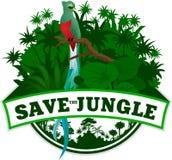 Vektor-Dschungel-Emblem Stockbild