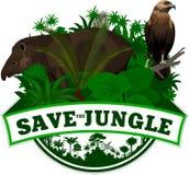 Vektor-Dschungel-Emblem mit Trägheit Lizenzfreies Stockfoto