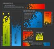 Vektor-dunkler Fahne templatescircle Hintergrund Lizenzfreies Stockfoto