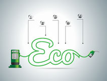 Vektor eco Brennstoffkonzept Stockfoto