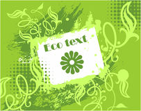 Vektor eco Designkarte Lizenzfreies Stockfoto