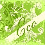 Vektor eco Designkarte Stockfotografie