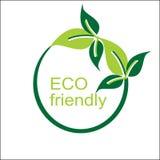 Vektor eco freundliches Logo und Symbol lizenzfreie stockbilder