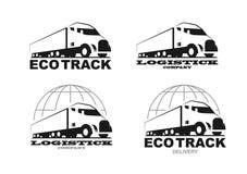 Vektor eco LKW-Logo vektor abbildung