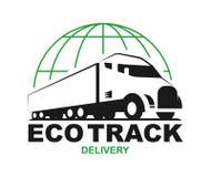 Vektor eco LKW-Logo stock abbildung