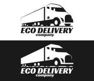 Vektor eco LKW-Logo lizenzfreie abbildung