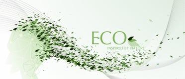 Vektor Eco som av naturen inspireras Fotografering för Bildbyråer