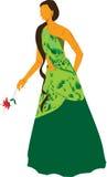 Vektor einer Frau mit dem langen Haar Lizenzfreies Stockfoto