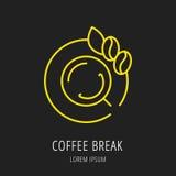 Vektor einfacher Logo Template Coffee Break Stockfotografie