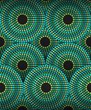 Vektor-eingeborene punktiertes Muster-Zusammenfassungs-Hintergrund-Illustration Stockbild
