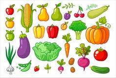 Vektor eingestellt mit Gemüse lizenzfreie abbildung
