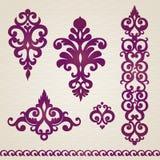 Vektor eingestellt mit klassischer Verzierung im viktorianischen Stil Lizenzfreie Stockbilder