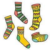 Vektor eingestellt mit Socken Stockbild