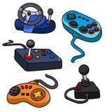 Vektor eingestellt: Videospiel-Kontrollen lizenzfreie abbildung