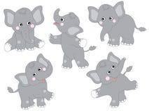 Vektor-Elefanten eingestellt Lizenzfreie Stockfotos