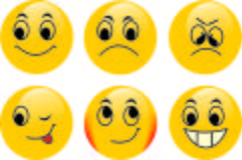 Vektor Emoticons lizenzfreie stockfotos