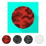 Vektor entwerfen vom Planeten und besch?digen Logo Stellen Sie vom Planeten und Vektorillustration der Schwerkraft von der auf La stock abbildung