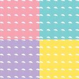 Vektor EPS10 des Regenschirm-verwenden der nahtlose Hintergrund-3, groß für irgendwelche Lizenzfreies Stockfoto