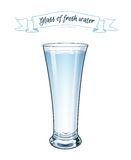 vektor 10 eps Ett exponeringsglas av nytt klart vatten Royaltyfri Fotografi
