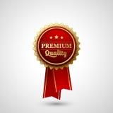 Vektor-erstklassiger Qualitäts-Ausweis-Aufkleber Lizenzfreies Stockfoto