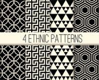 Vektor-ethnische Muster stellten Illustration ein Lizenzfreies Stockbild