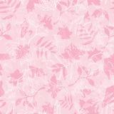 Vektor exotische rosa Dawn Florals Seamless Pattern Lizenzfreies Stockbild