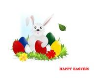 vektor för ägg för kanincdr easter royaltyfri illustrationer