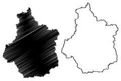 Vektor för översikt för mitt-Valde Loire vektor illustrationer
