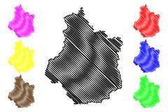 Vektor för översikt för mitt-Valde Loire royaltyfri illustrationer