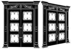 vektor för 05 dörr royaltyfri illustrationer