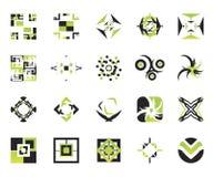 vektor för 10 elementsymboler Arkivfoton
