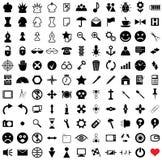 vektor för 121 pictograms Arkivbild