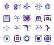 vektor för 14 elementsymboler Arkivfoto