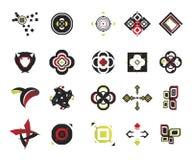 vektor för 17 elementsymboler Arkivbilder