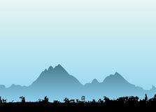 vektor för 2 berg vektor illustrationer