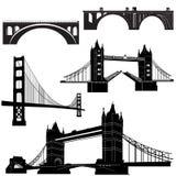 vektor för 2 bro stock illustrationer
