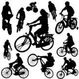 vektor för 2 cykel stock illustrationer