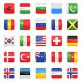 vektor för 2 flaggor