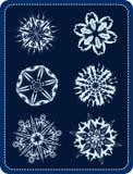 vektor för 2 snowflakes vektor illustrationer