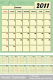vektor för 2011 kalender Arkivfoto