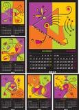 vektor för 2012 kalender Royaltyfri Bild